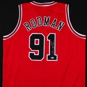 Other - Dennis Rodman Signed Chicago Bulls Jersey (COA)